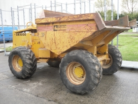 1 Thwaites dumper before shot blasting renovation