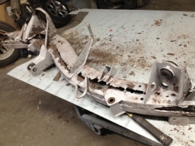 Chassis before repair