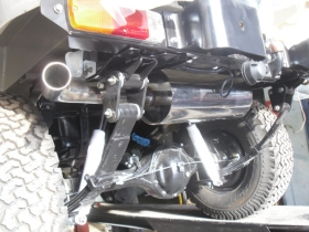 4. Custom built exhaust system for Landrover