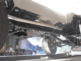 2. Custom built exhaust system for Landrover
