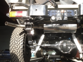 3. Custom built exhaust system for Landrover