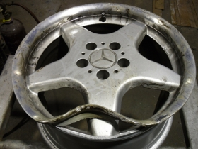 1. Merc Alloy before repair