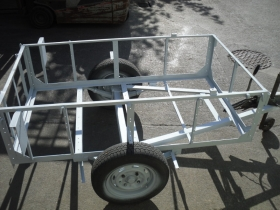 4. Trailer after shot blasting