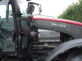 1. Valtra tractor with old exhaust removed