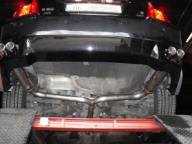 1. Rear view image of Volvo showing twin tails each side for real sporty look
